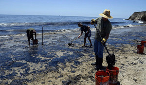 Golden State's Coastline Threatened by Oil Spill