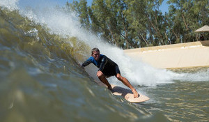 First Longboarder Ever Rides Kelly Slater's Wave Pool