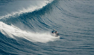 Teahupoo on a Motorcross Bike