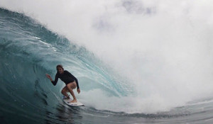 Steph Gilmore Hunts Cranking Tubes For Indo Strike Mission