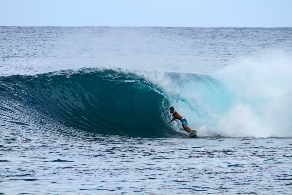 Bintang's throwing out some low tide slabs