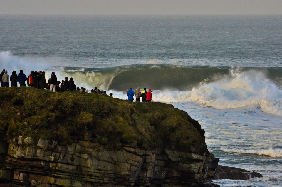 The inside ledge is a popular spot when the surf is small, and death when it's not.