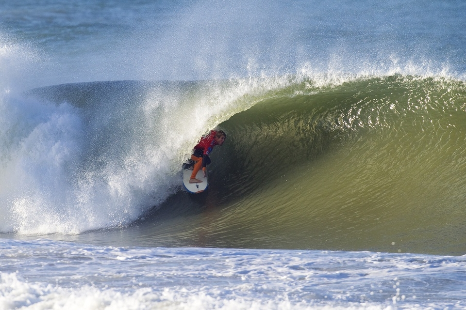 RIP CURL PRO PORTUGAL MEN'S REMAINING ROUND 1 RESULTS:   Heat 10: Damien Hobgood (USA) 15.36, Fredrick Patacchia (HAW)  15.10, Luke Stedman (AUS) 13.27  Heat 11: Bobby Martinez (USA) 16.70, Michel Bourez (PYF) 8.94,  Kai Otton (AUS) 6.93  Heat 12: Jadson Andre (BRA) 14.27, Andy Irons (HAW) 14.07,  Patrick Gudauskas (USA) 10.76    RIP CURL PRO PORTUGAL MEN'S ROUND 2 RESULTS:   Heat 1:Kelly Slater (USA) 14.17 def. Bruno Santos (BRA) 7.30  Heat 2:Jordy Smith (ZAF) 12.80 def. Marlon Lipke (DEU) 11.63  Heat 3:Travis Logie (ZAF) 16.06 def. Dane Reynolds (USA) 8.50  Heat 4:Dean Morrison (AUS) 13.67 def. Adriano de Souza (BRA) 11.43  Heat 5:Adrian Buchan (AUS) 18.00 def. Luke Munro (AUS) 6.24  Heat 6:C.J. Hobgood (USA) 16.16 def. Roy Powers (HAW) 9.03  Heat 7:Michel Bourez (PYF) 12.93 def. Luke Stedman (AUS) 8.23  Heat 8:Kai Otton (AUS) 10.83 def. Andy Irons (HAW) 10.40  Heat 9:Patrick Gudauskas (USA) 12.17 def. Fredrick Patacchia (HAW) 10.37  Heat 10:Daniel Ross (AUS) 12.03 def. Kieren Perrow (AUS) 10.17  Heat 11:Chris Davidson (AUS) 12.23 def. Adam Melling (AUS) 11.94  Heat 12:Brett Simpson (AUS) 14.27 def. Tiago Pires (PRT) 10.17   RIP CURL PRO PORTUGAL MEN'S ROUND 3 TO COME:  Heat 1:Taj Burrow (AUS) vs. Matt Wilkinson (AUS)  Heat 2:Michel Bourez (PYF) vs. Daniel Ross (AUS)  Heat 3:Adrian Buchan (AUS) vs. Dusty Payne (HAW)  Heat 4:Damien Hobgood (USA) vs. Tom Whitaker (AUS)  Heat 5:Chris Davidson (AUS) vs. Taylor Knox (USA)  Heat 6:Kelly Slater (USA) vs. Gabe Kling (USA)  Heat 7:Mick Fanning (AUS) vs. Travis Logie (ZAF)  Heat 8:Bobby Martinez (USA) vs. Jeremy Flores (FRA)  Heat 9:C.J. Hobgood (USA) vs. Patrick Gudauskas (USA)  Heat 10:Owen Wright (AUS) vs. Kai Otton (AUS)  Heat 11:Jadson Andre (BRA) vs. Brett Simpson (USA)  Heat 12:Jordy Smith (ZAF) vs. Dean Morrison (AUS)   Highlights of all today's action available  HERE .