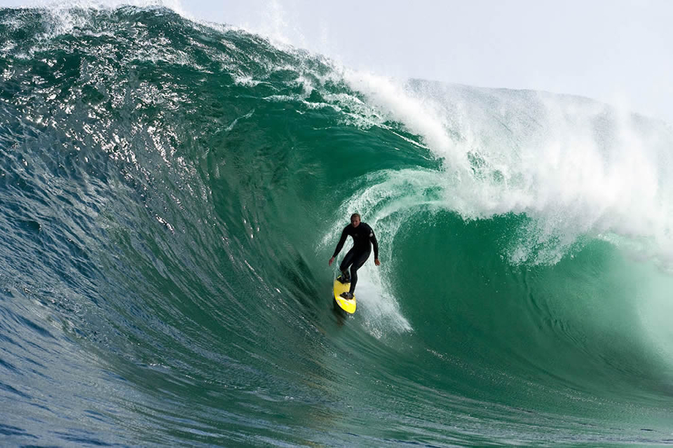 Benny Richardson is one of the more casual surfers out there these days.