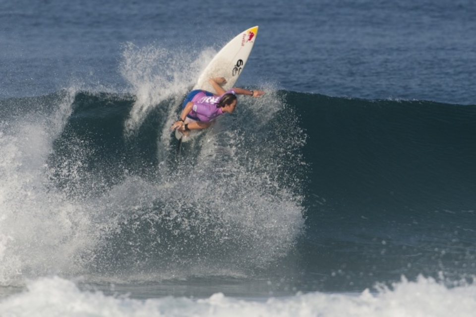 Carissa Moore (HAW), 18, defeated Sally Fitzgibbons (AUS), 20, to win the Billabong Rio Pro today, her third elite event win of 2011.