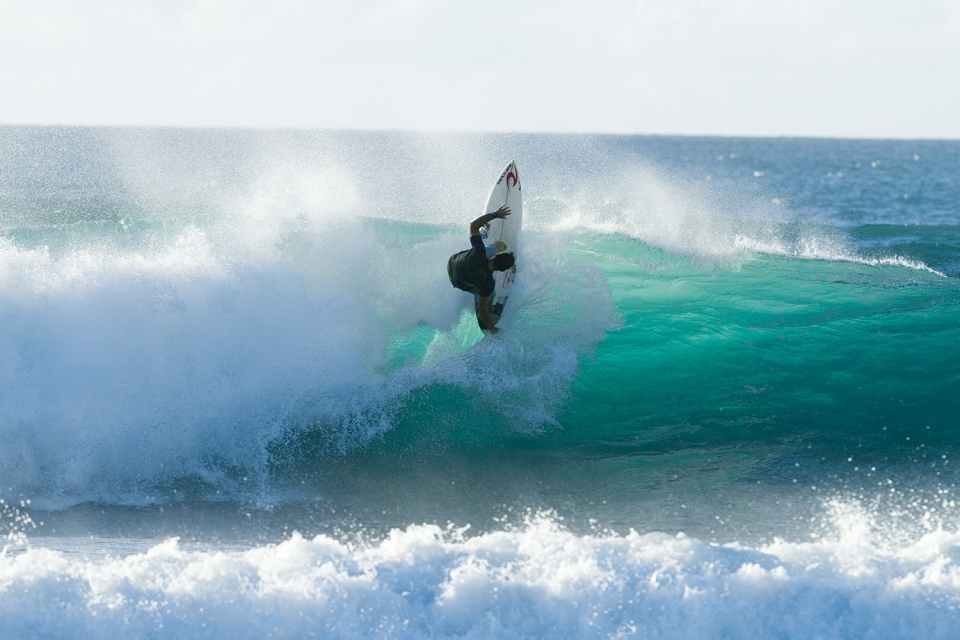Pancho Sullivan getting vertical in the evening backlight.