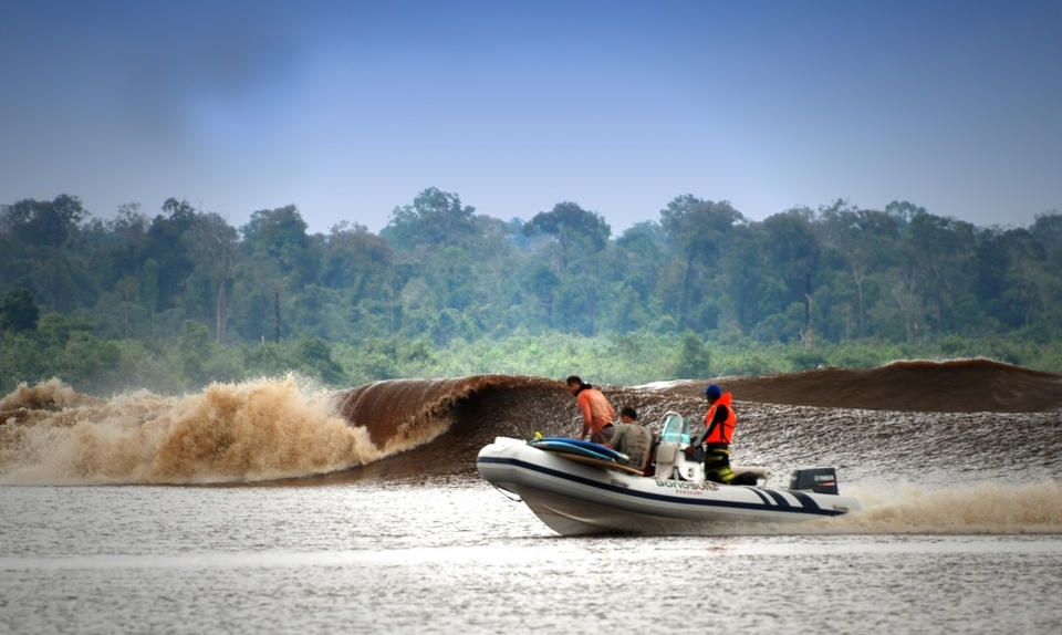 BONO, that wave, the one with the  barrel up that river in the back of Indonesia. Anthony 'Yep' Colas went back for a fourth time, this time on a training/scouting mission to open up new areas of the river and prepare for the first guided trips.