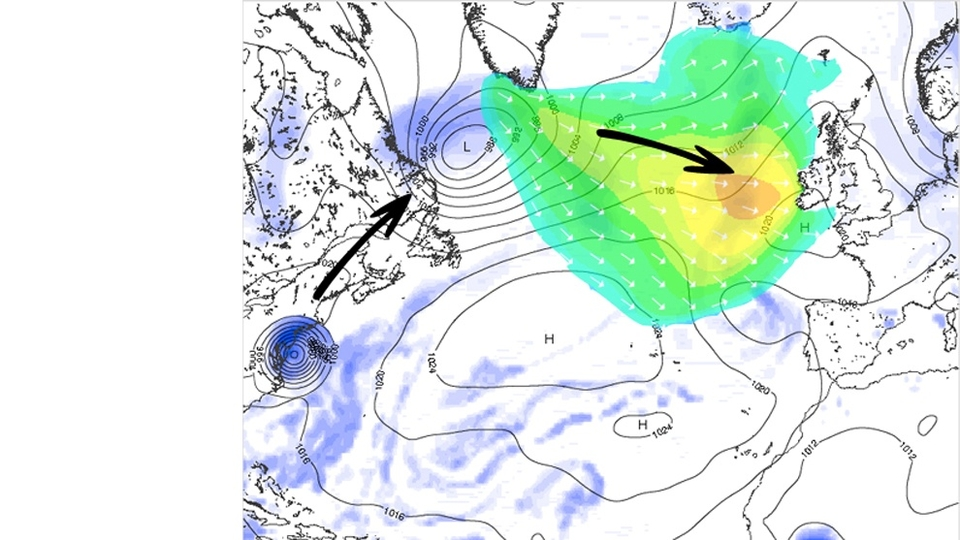 As for Europe, Hurricane Irene will join with and regenerate as a low pressure system between Canada and Greenland aided by a southerly jet stream. This will send a swell towards Europe which arrives as a 17secs swell for the UK and Irish coast on Thursday.    Unfortunately the same southerly jet stream creating this low pressure systems will pass close to the UK and Ireland creating very windy conditions. Conditions will be much improved in France and Spain with the possibility of a decent Mundaka swell courtesy of what was once Irene.    We'll keep our detailed 5 day hurricane swell models  updated here .