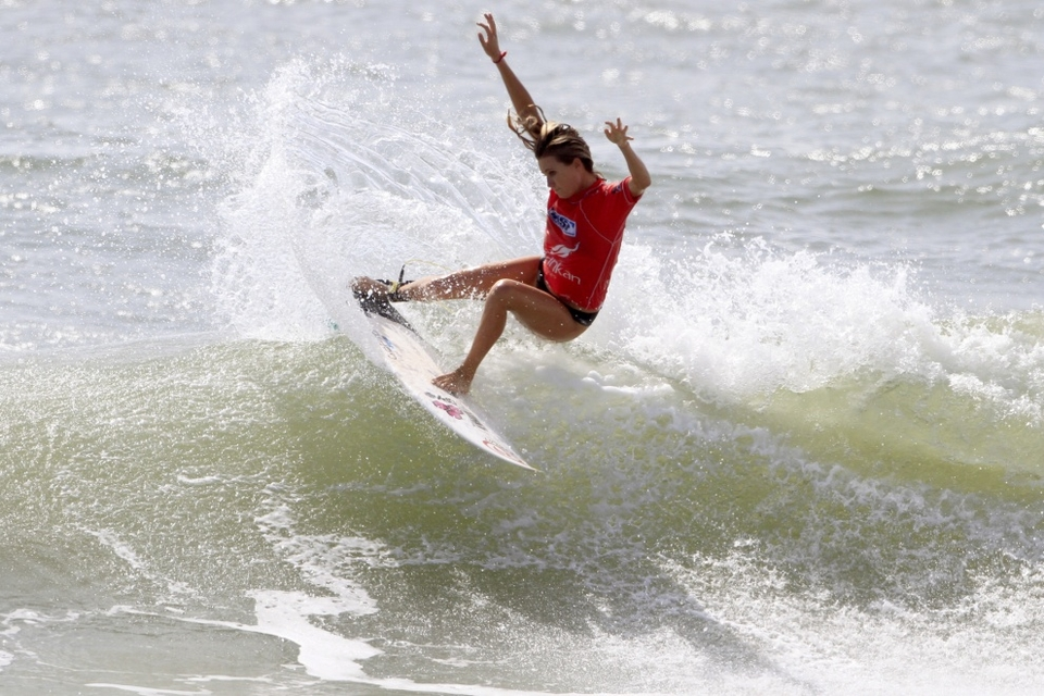 Alana Blanchard was eliminated in round one despite throwing down some nice moves like this tail slide.