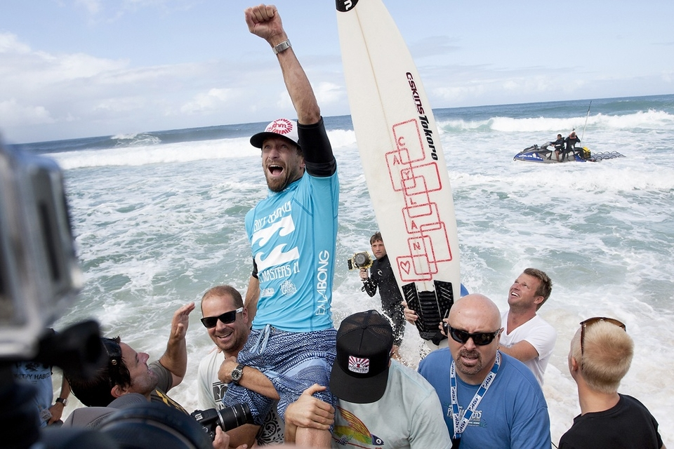 CONGRATULATIONS Kieren Perrow on winning the Billabong Pipe Masters in Memory of Andy Irons.    He beat fellow countryman Joel Parkinson in tricky double-overhead surf. The result came after three consecutive days of competition in some of the biggest, deadliest and best Pipe conditions in history. The event also set a record for the most online viewers in ASP history.   Hawaii teenager John John Florence, 19, who finished 5th after losing to world champ Kelly Slater today, also found his way to the podium as the overall winner of the 2011 Vans Triple Crown series presented by Rockstar Energy Drink. There was no question he was the man to beat on the famed North Shore of Oahu this year.   Perrow, who finished runner-up to Jeremy Flores, 23, in last year's Billabong Pipe Masters, returned to form again this year and charged the massive Pipeline conditions on the opening two days of competition to solidify his position on the 2012 ASP World Tour. The Australian was equally deadly in the smaller conditions on the final day and commanded the Final against Parkinson in a backdoor shootout to secure his maiden ASP World Tour victory.