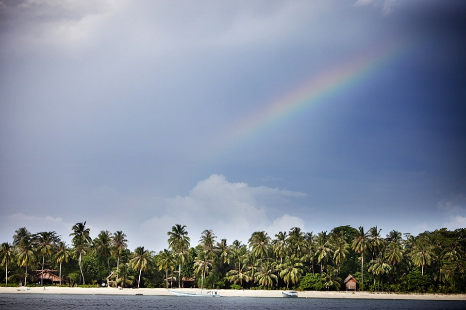 A typical day at Kandui Resort, rainbow and all.