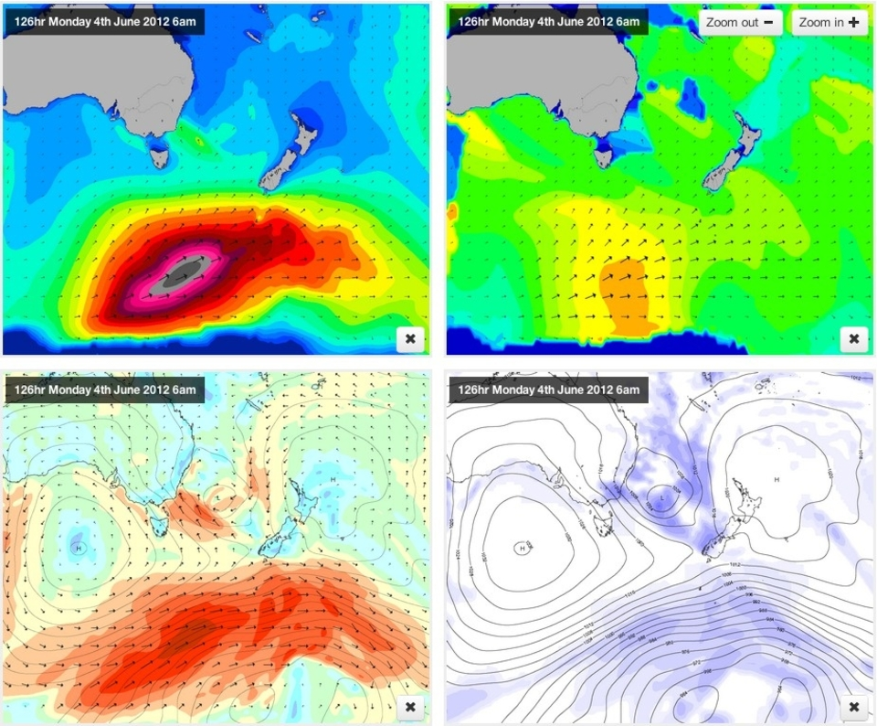 This is the chunky swell for later on in the comp, check out the  forecast here  for around Friday, June 8th. Whilst it's still a long way out the models are in agreement that something is brewing deep under Australia.
