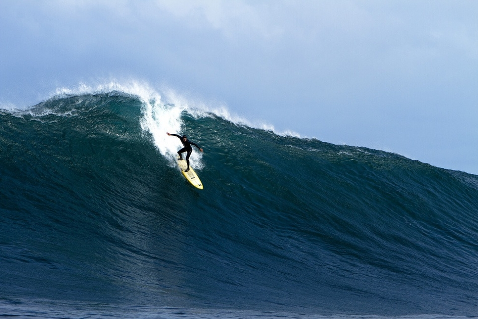 Neil Zietsman on one of the waves of the day. Neil is a great all round surfer and it shows in the bigger stuff.