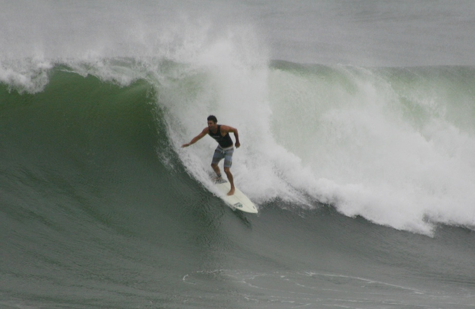 This unknown was apparently the hardest charging soul out there at the peak of the swell on Sunday, June 24th.