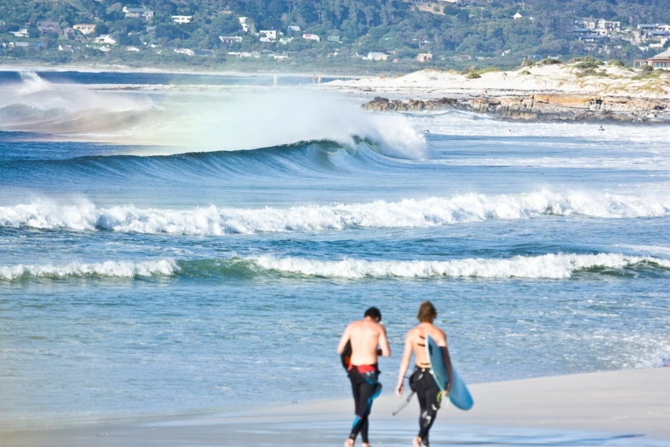 Just you and a buddy cruising to an empty peak - and there are plenty of these to go around in Cape Town if you know where to look.    This is just down the beach from where I live in Kommetjie and there hasn't been a shortage so far this summer.