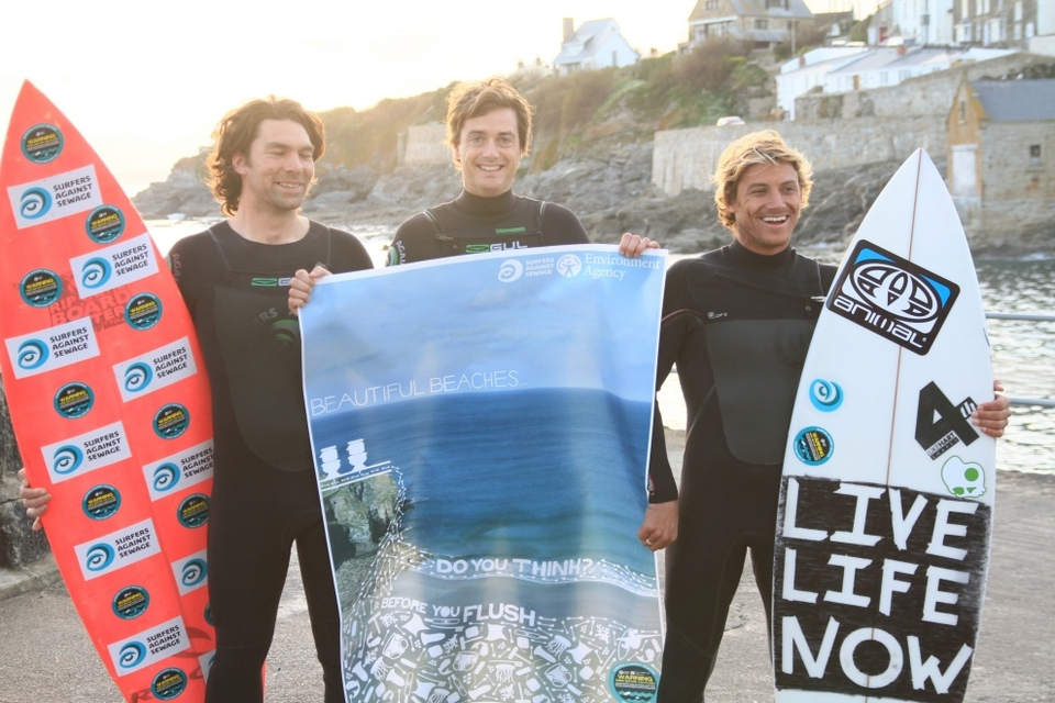 Me and SAS happy crew in front of the reef after the town council voted in favour of the Think Before You Flush campaign.