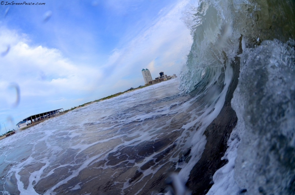 Travis Burns POV looking back at South Padre Island.