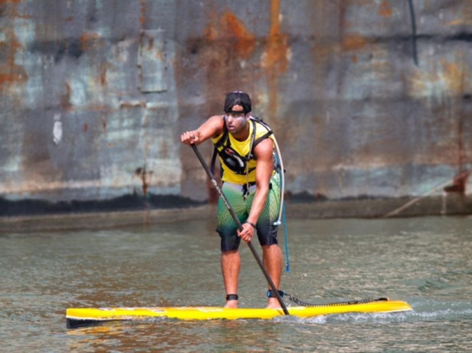 O'Neill SUP champion Rob Rojas said it was one of the hottest and toughest paddles he's ever done.