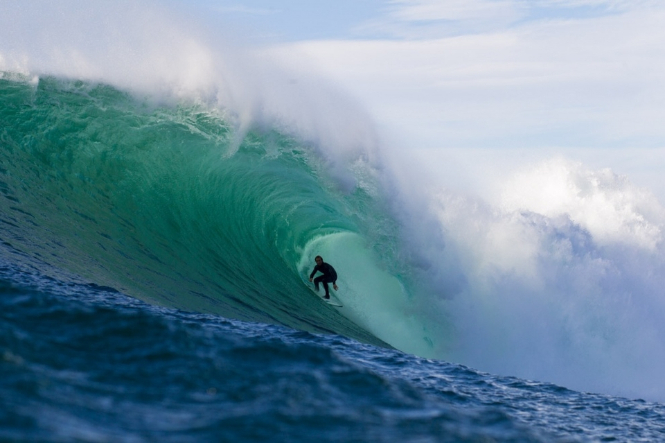 Cain Kilcullen deep in the maw of a wave which could be anywhere.