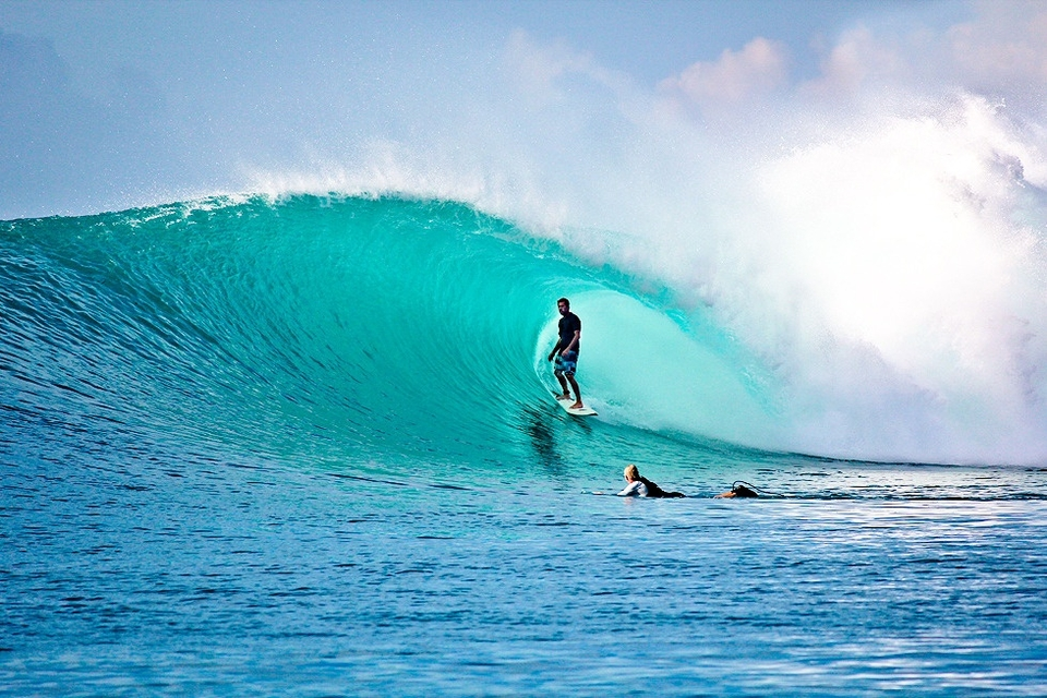 Early season in the Mentawai's can be a gamble. Conditions are almost always good, the crowds are mellow, but scoring a solid swell takes a bit of luck or timing.   Kandui Resort partner and Booking Manager, Anthony Marcotti, spends a lot of his year stuck behind a computer but saw this swell coming, jumped on a plane, and scored by all accounts the wave of the year in all of the Mentawai Islands with 35 seconds worth of tube time on this wave. You can see the video  here .    A happy Anthony recalls