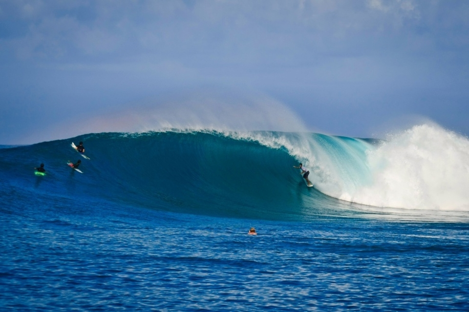 Phil Waldemar on the wave of the day on the day of the year.  This particular wave, according to Kandui Resort partner Ray Wilcoxen, was one of the best waves he's ever seen ridden at this spot.