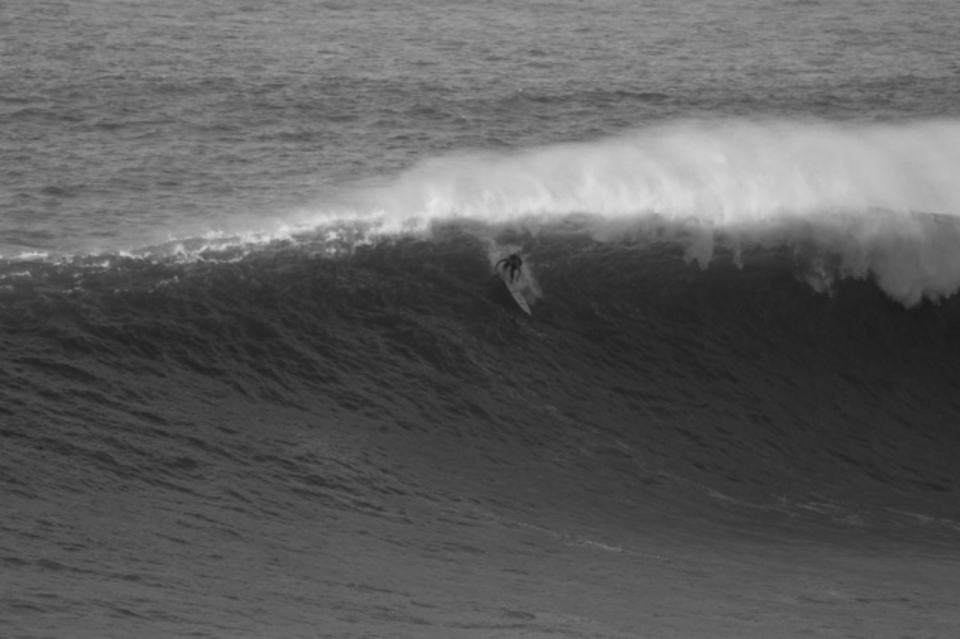 Garrett padding Nazare yesterday ... January 29th
