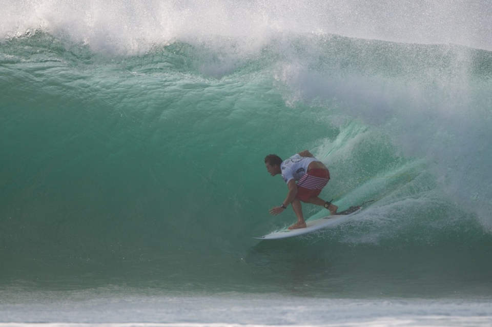 There were moments of hope for Ward and Kerr, both of whom had been in brilliant form over the past two days of incredible surf. This was Ward's second Volcom final in as many years. Prior to the final, Eleogram had been having the break-out performance of his life. But from the beach it was clear that Florence had tapped into a sixth sense in the final that can only come with a lifetime of watching and riding the most coveted surf spot on Earth. With that, he is sure to rule here for a very long time.    Conditions were super clean, consistent, and perfectly hollow throughout the day. Two $1,000