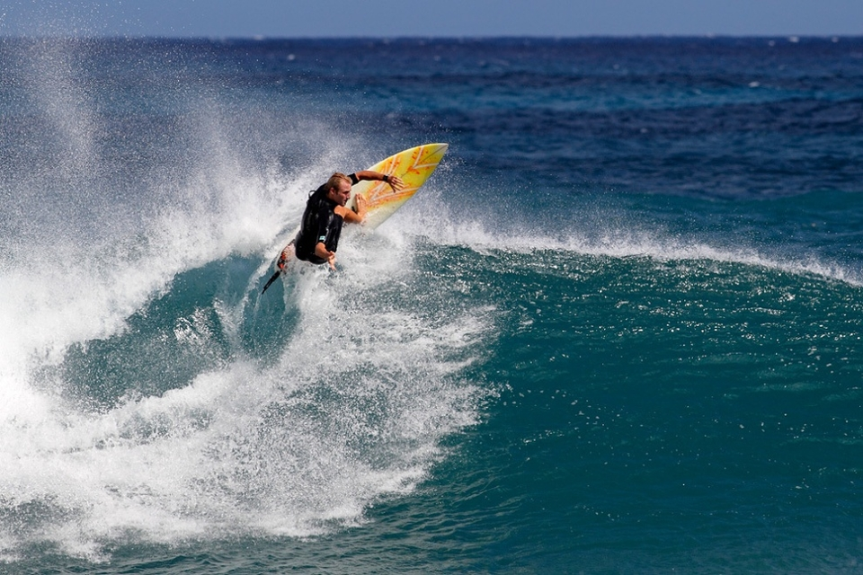Flynn Novak is a standout whenever he paddles out. A very humble and approachable gentleman on the beach and a terror in the water with a scary frontside roundhouse cutback.    He's not bad off the lip either.