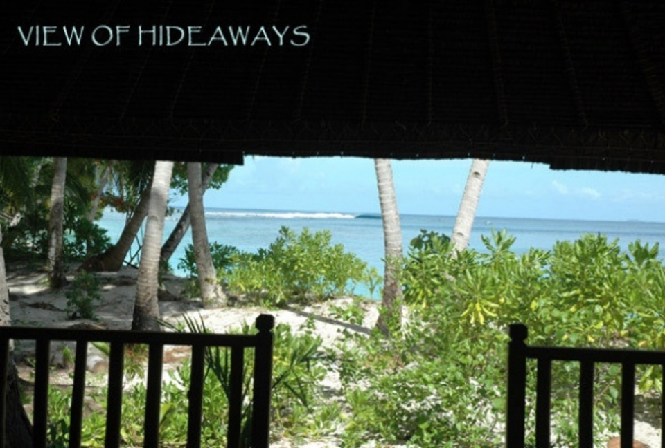 View of Hideaways from the porch
