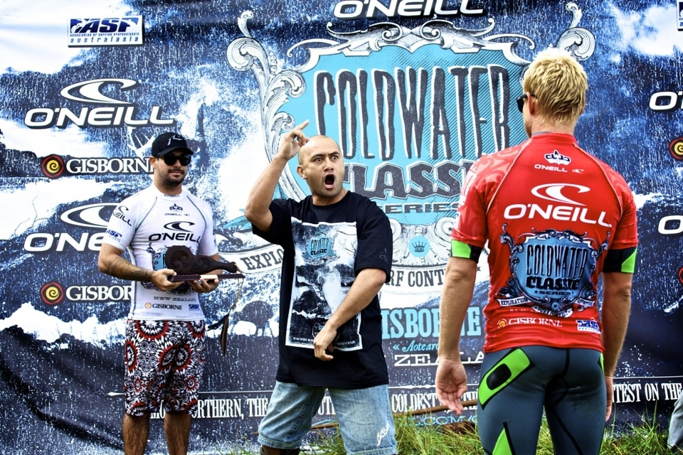 At the prize giving after an emotional haka performed by an inspired local Maori, Melling was awarded with a traditional Maori weapon called a tewhatewha, in the tradition of the O'Neill Cold Water Classic Series where the winners receive meaningful awards from the host country.    Melling received $20,000 USD for the win and moves up one place on the ASP One World Rankings to 23rd and hopes to be able to attend more O'Neill Cold Water Classic events in a bid to win the Series and claim the $50,000 USD prize money for the Series win.