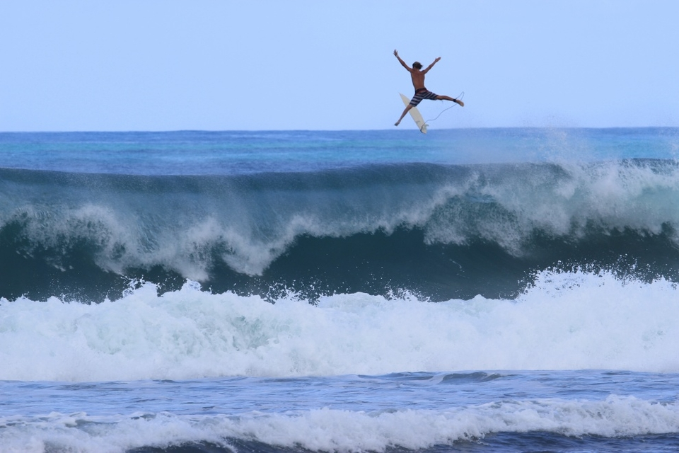 Bailing on a Katia set in Barbados.   More  here