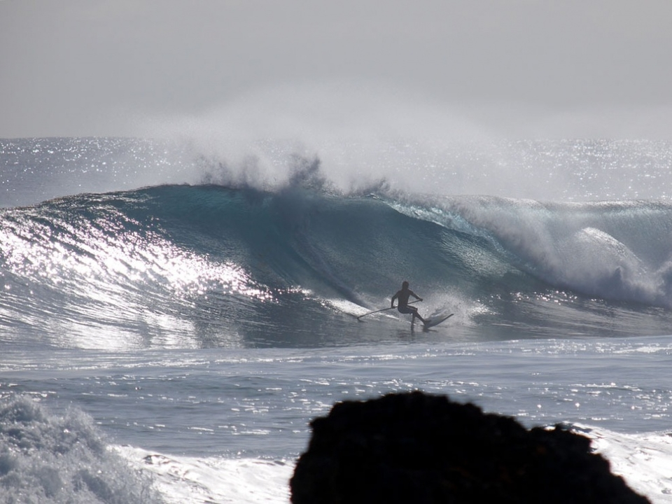 Brian Talma SUPing at Parlors.    More  here