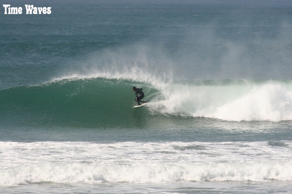 Low tide Fisty hooking a a sweet little curve.    More from Time Waves  here
