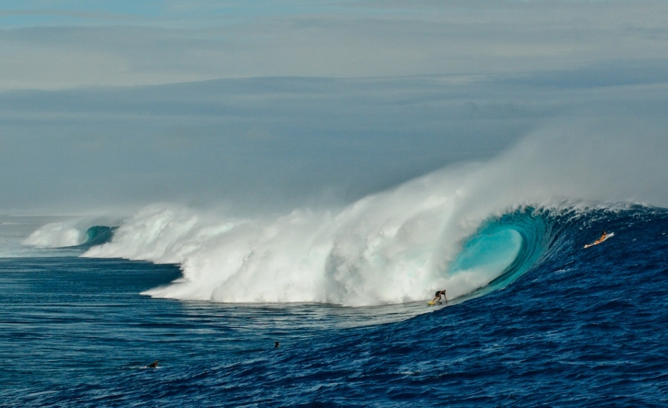 Kohl Christensen at Cloudbreak back in June 2012. One of the few spots on tour where goofyfoots can excel.
