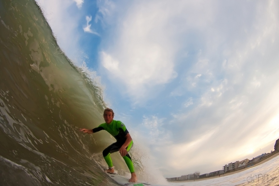 Brad Flora eyes on the prize at Ocean City, Maryland.
