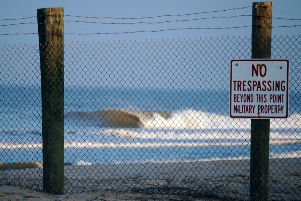Croatan Beach, Virginia and that peak is property of the US government. Likelihood of obeying the sign? Nil.