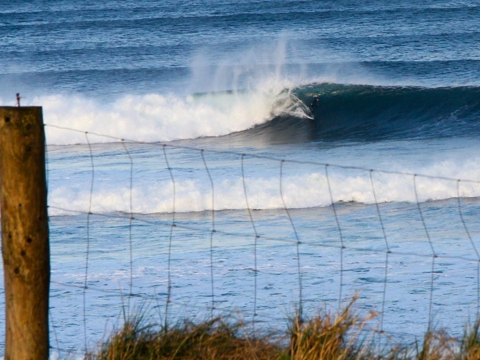 Somewhere in Western Ireland there's a barbed wire fence to shoot perfect waves...