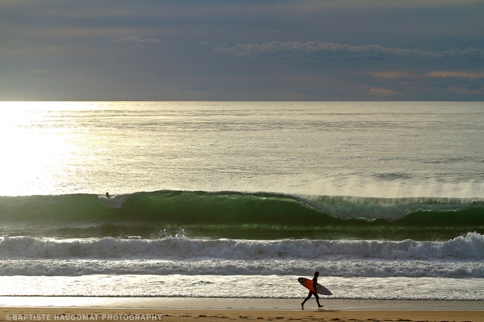 Hossegor on March 8th under sunny skies