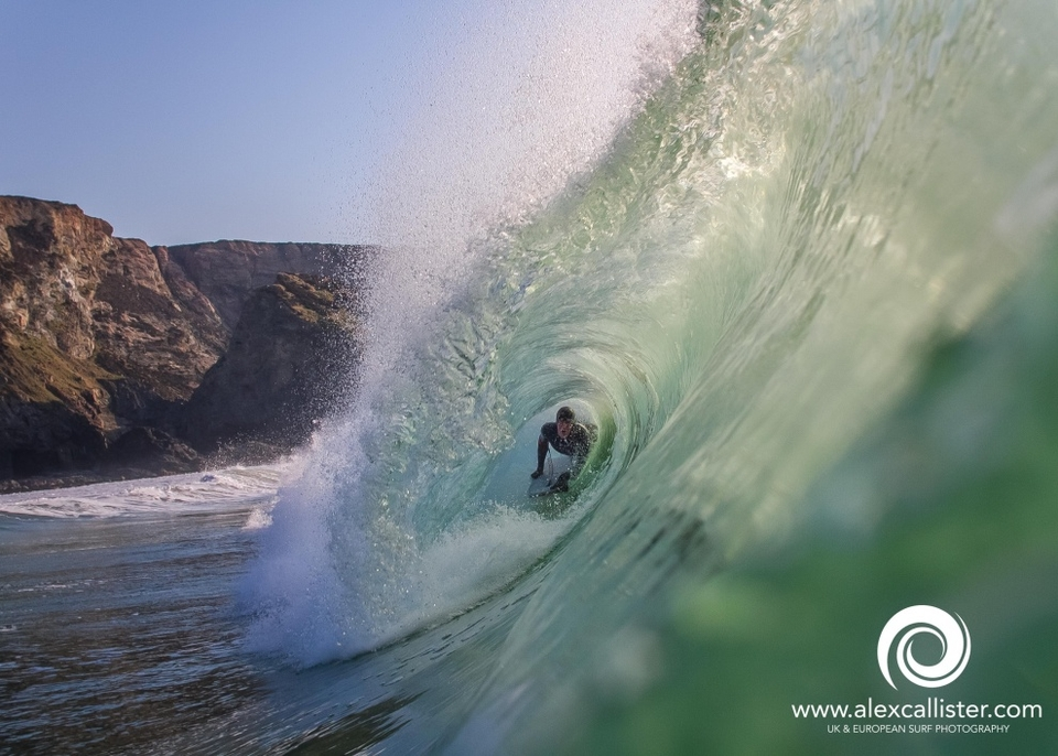 Got to love it when the clocks change! Sam Brabyn on a slice of early evening Porthtowan gold on the 2nd of April.
