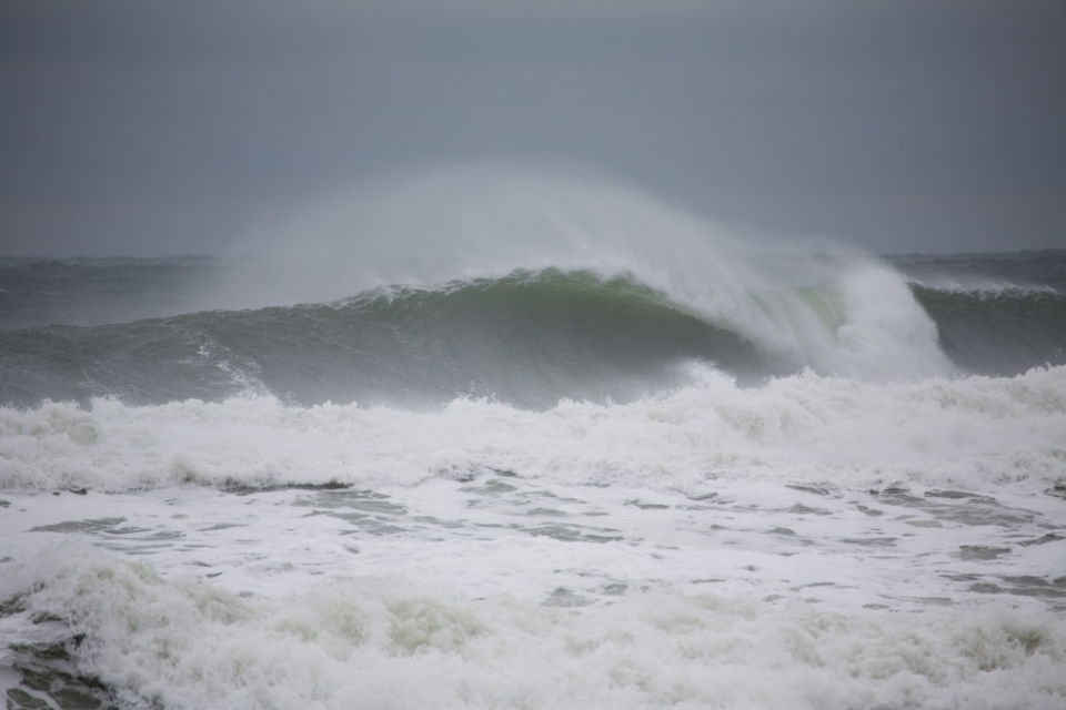 Lacking the golden light, Long Island looks bleak, but still pumping.