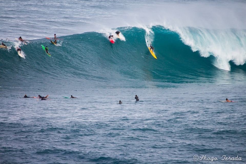 The take-off at Waimea is slightly higher consequence than your average beachie.