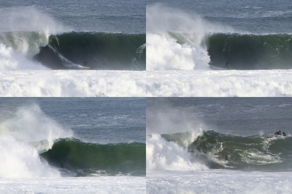 Cain Kilcullen charging at Mullaghmore Head.
