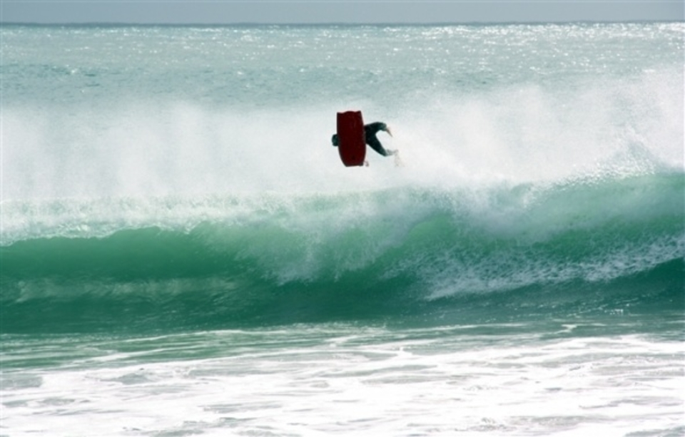 Busting ... Salah local Agadir bodyboarder