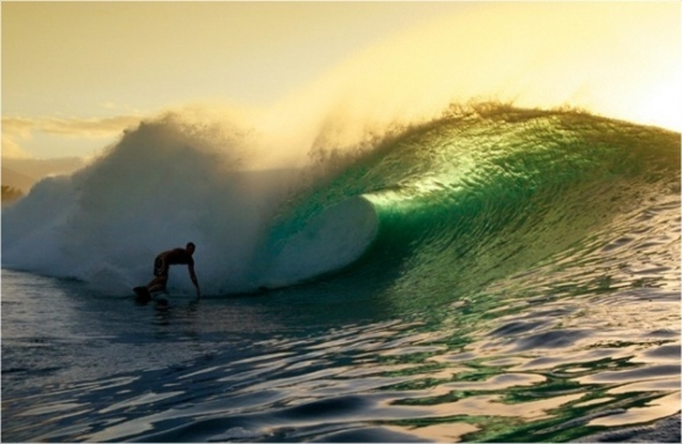 I wish every day at Pipeline could end like this. ... Unknown