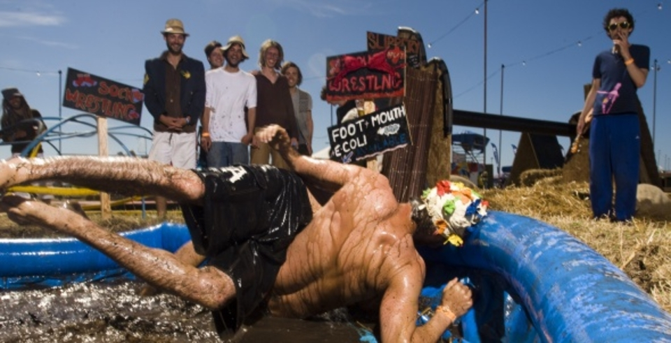 Not just a music festival ... Also a guaranteed mud bath