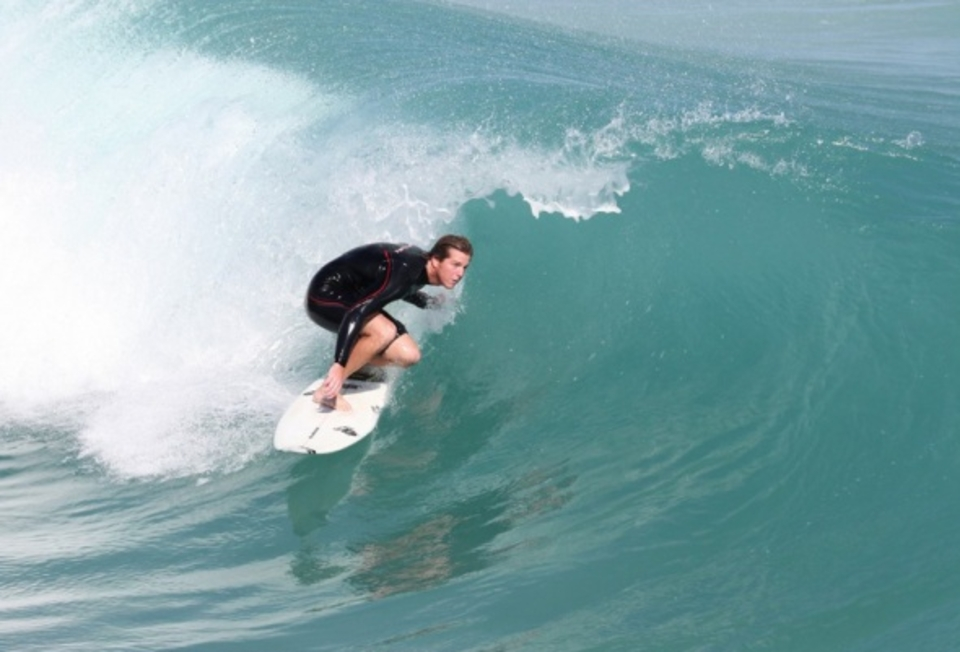 Sneaking away from Locals Surf Shop for a little lunch break ... Jimmy Moren