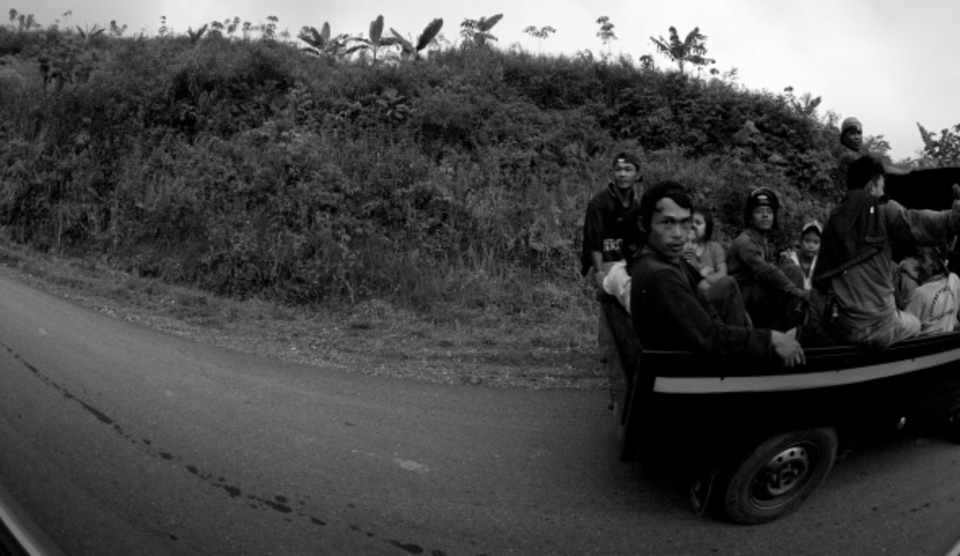 Six hours of getting familiar with Sumatran roads ... Public transport Indo style