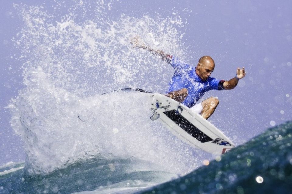 Looked on form and like, Kelly ... Slater on top with a carbon strip and double stringer
