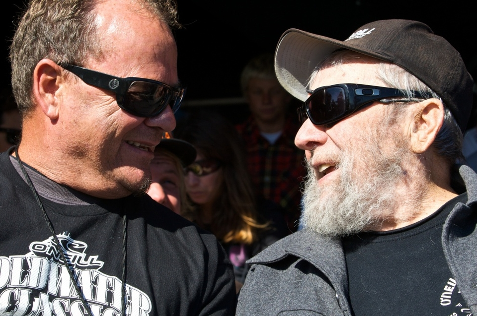 Pictured right, Jack O'Neill, founder of the original California surf, snow and lifestyle brand in 1952. In pioneering the world's first neoprene surf wetsuit, Jack had successfully found a way to extend his surf sessions in the bone-chilling breaks of Northern California. He opened up the garage doors to his first surf shop soon after and the rest is history.