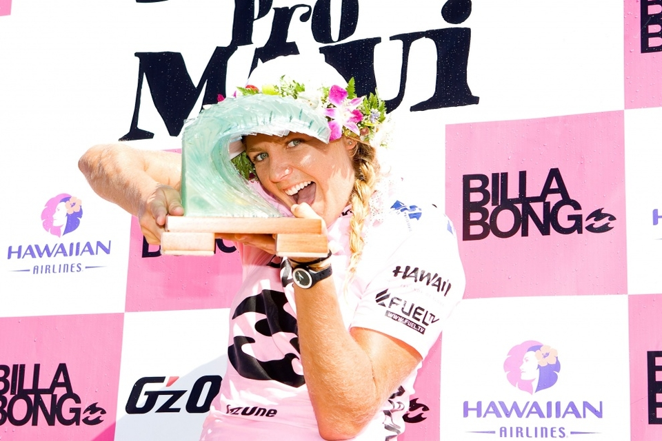 STEPH Gilmore topped off her year in emphatic fashion by taking The Billabong Pro Maui and the Triple Crown to add to her 2009 World Champion title.    Since joining the tour three years ago she's won it each time, taken 2 Triple Crown series, in the process taking this event three times.   No-one, not even Slater possesses the win percentage she does - and at 21 she's only just started.